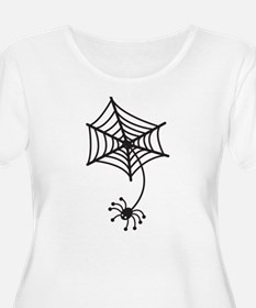 cute Spider in a web Plus Size T-Shirt