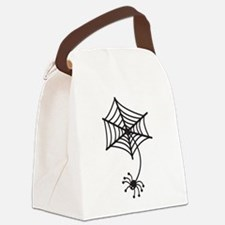 cute Spider in a web Canvas Lunch Bag