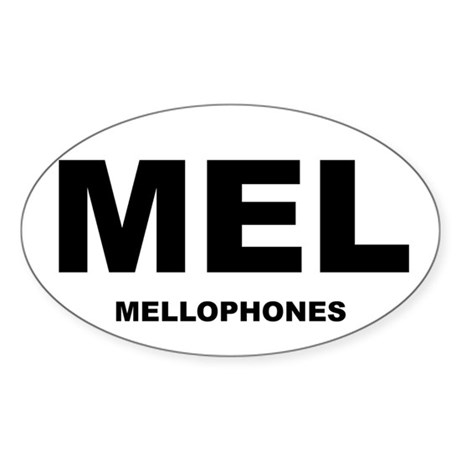Mellophone Shirts and Gifts! Oval Sticker