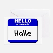 hello my name is halle  Greeting Cards (Package of