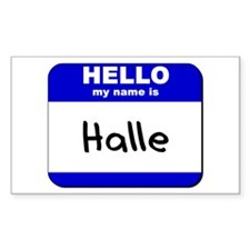 hello my name is halle Rectangle Decal