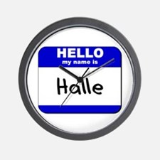 hello my name is halle  Wall Clock