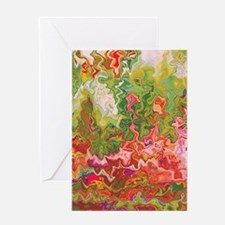 Artistic Oil Fluid Texture Greeting Cards