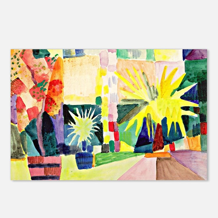 August Macke - Garden on  Postcards (Package of 8)