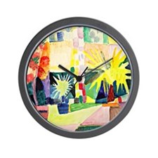 August Macke - Garden on Lake Thun Wall Clock