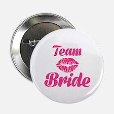 """Team Bride kiss 2.25"""" Button (10 pack)"""