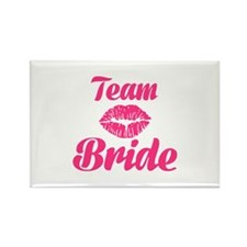 Team Bride kiss Rectangle Magnet