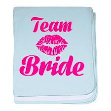 Team Bride kiss baby blanket