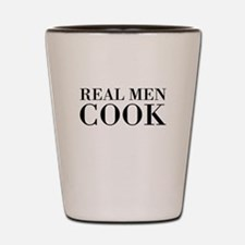 Real men cook Shot Glass