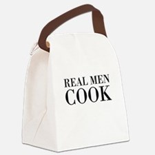 Real men cook Canvas Lunch Bag