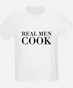 Real Men Cook T-Shirt For Little Chef T-Shirt