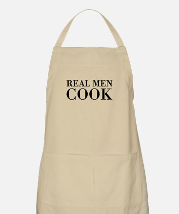 Real Men Cook Apron | Khaki Beige