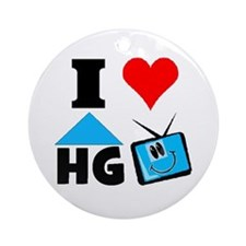 I Love HGTV Ornament (Round)
