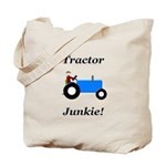 Blue Tractor Junkie Tote Bag