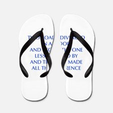TWO-ROADS-OPT-BLUE Flip Flops