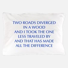 TWO-ROADS-OPT-BLUE Pillow Case