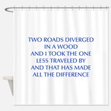 TWO-ROADS-OPT-BLUE Shower Curtain