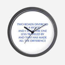 TWO-ROADS-OPT-BLUE Wall Clock