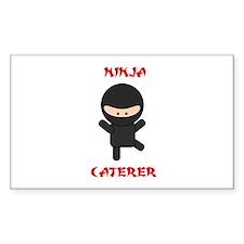 Ninja Caterer Decal