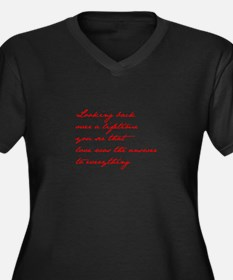 looking-back-love jane red Plus Size T-Shirt
