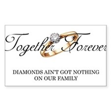 Together Forever Rectangle Decal