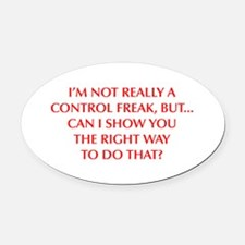 CONTROL-FREAK-OPT-RED Oval Car Magnet