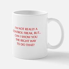 CONTROL-FREAK-OPT-RED Mugs