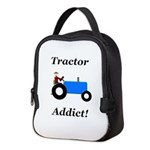 Blue Tractor Addict Neoprene Lunch Bag