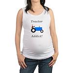 Blue Tractor Addict Maternity Tank Top