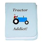 Blue Tractor Addict baby blanket