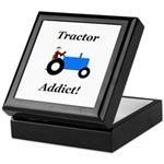 Blue Tractor Addict Keepsake Box