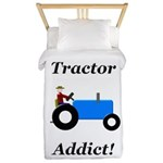 Blue Tractor Addict Twin Duvet