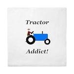 Blue Tractor Addict Queen Duvet