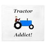 Blue Tractor Addict King Duvet