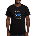 Blue Tractor Addict Men's Fitted T-Shirt (dark)