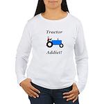 Blue Tractor Addict Women's Long Sleeve T-Shirt