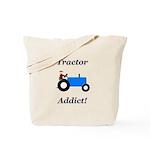 Blue Tractor Addict Tote Bag