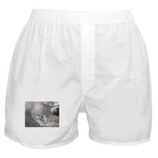 Baby Gracie with her Mom Boxer Shorts