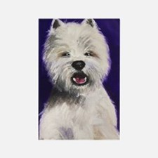 Westie Smile Rectangle Magnet