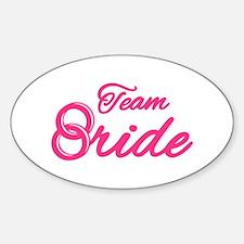 Team Bride Bachelorette Party Sticker (Oval)