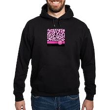 Pink Leopard Letter B monogram Hoodie
