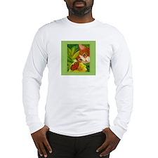 Ginger Cat & Butterfly Long Sleeve T-Shirt
