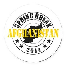 Spring Break Afghanistan 2014 Round Car Magnet