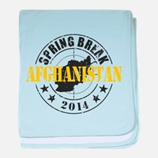 Spring Break Afghanistan 2014 baby blanket