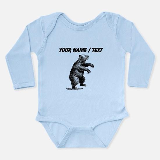Custom Grizzly Bear Sketch Body Suit