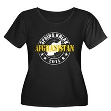 Spring Break Afghanistan 2014 Plus Size T-Shirt