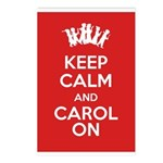 Carol On Post Card (Pack Of 8)