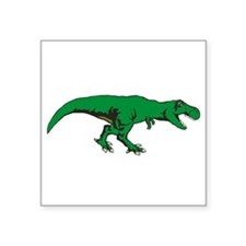 "T Rex 3 Square Sticker 3"" x 3"""