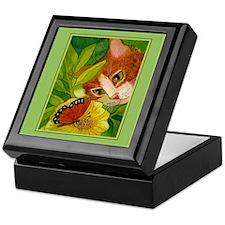 Ginger Cat & Butterfly Keepsake Box