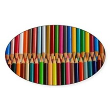 Colorful pencil crayons Decal